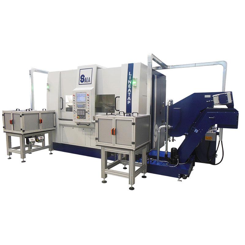 Sala srl - Multimandrino Lineare CNC - Lineatap - coni diamantati - rubinetti gas