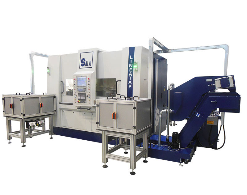 Sala srl - Machines for gas appliances - Linear multi-spindle CNC turning machine